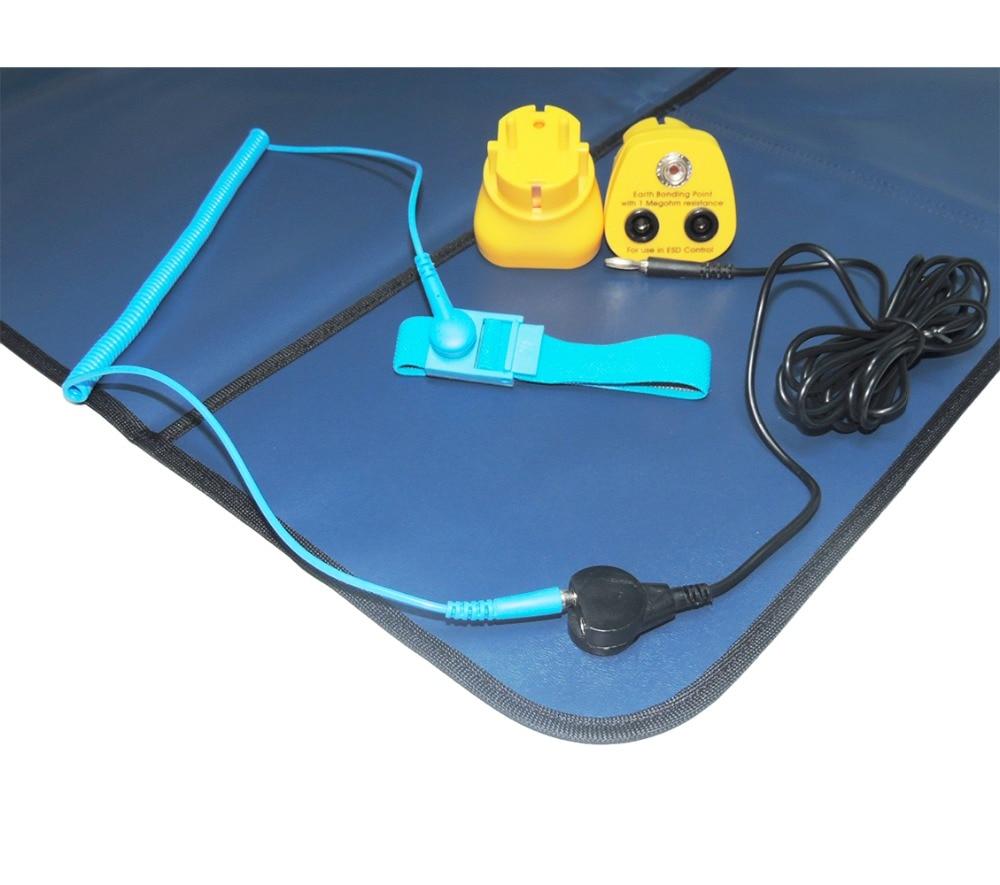 лучшая цена High Quality Removable ESD Antistatic Mat DIY ESD Workstation Phone RepairWrist Strap Grounding Lead Kits ESD Earth Bonding Plug