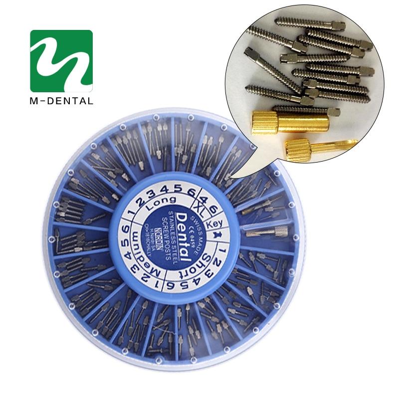 120db / készlet Rozsdamentes acél fogászati csavarok Fogászati kellékek Ezüst fogászati csavarok Fogászati anyagok fogfehérítéshez