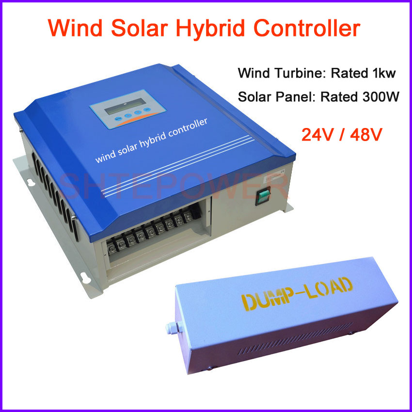 Controller 24V 48V for Rated 1000W wind turbines system Solar Panels system Rated 300W Work Wind Solar Hybrid controller solar panels boost controller 48v60v72v electric vehicle charging converter 300w