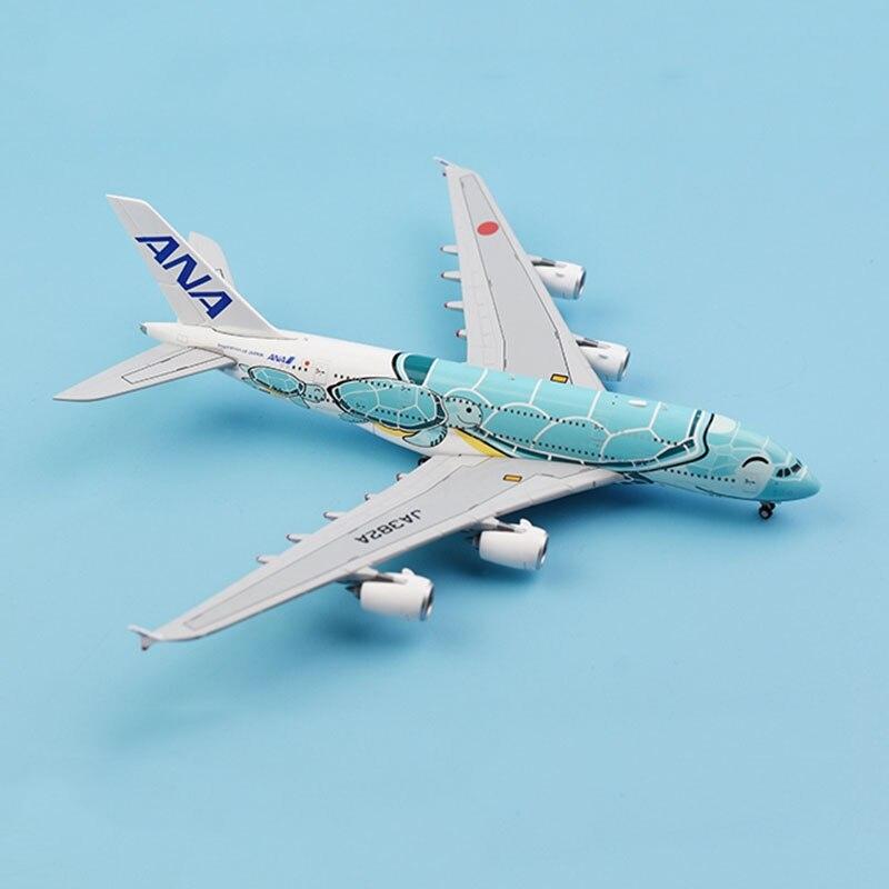 1:400 skala Airbus A380 samoloty Model samolotów ANA liniami Japan Airlines ze stopu samolot samolot kolekcjonerska manekin sklepowy kolekcja w Odlewane i zabawkowe pojazdy od Zabawki i hobby na  Grupa 2