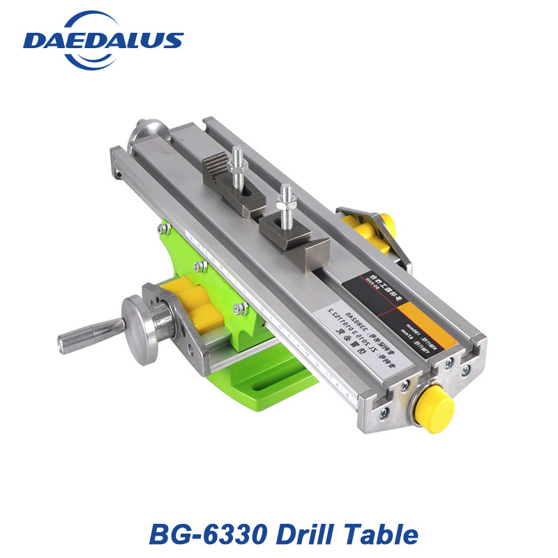 Morsa 6330 Broca mesa Mini Multifuncional Cruz Coordenar mesa XY Mesa de Trabalho-ajuste do eixo Para fresadora cnc