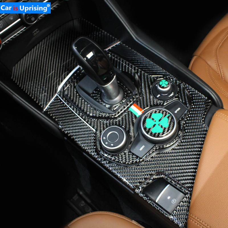 Car styling foralfa romeo Giulia carbon fibre refit special interior accessories Car Stickers Control parts Decorative Sticker