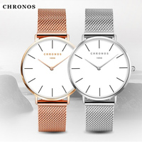 Women Simple Watches 2017 Brand Luxury Fashion Quartz Ladies Watch Steel Mesh Strap Band Casual Ultra