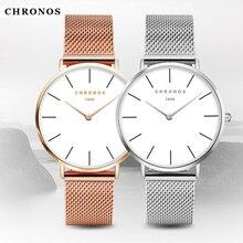 Mujeres Simples Relojes 2017 Marca de Moda de Lujo Señoras Reloj de Cuarzo Correa de Banda De Malla De Acero Ocasional Ultra delgado Reloj de Pulsera Relogio