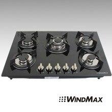 30 » мода черный закаленное стекло встроенная — кухня 5 газовая плита варочные поверхности