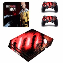 Anime One Punch Man PS4 Pro Skin Sticker PlayStation 4 Console and 2 Controllers PS4 Pro Skins Sticker Vinyl