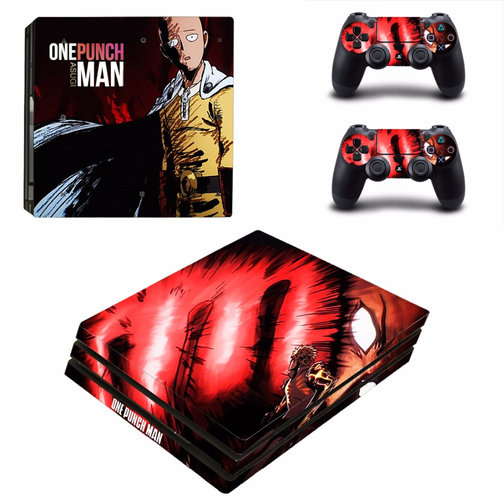 Anime One Punch Man PS4 Pro Skin Sticker For PlayStation 4 Console and 2 Controllers PS4 Pro Skins Sticker Decal Vinyl