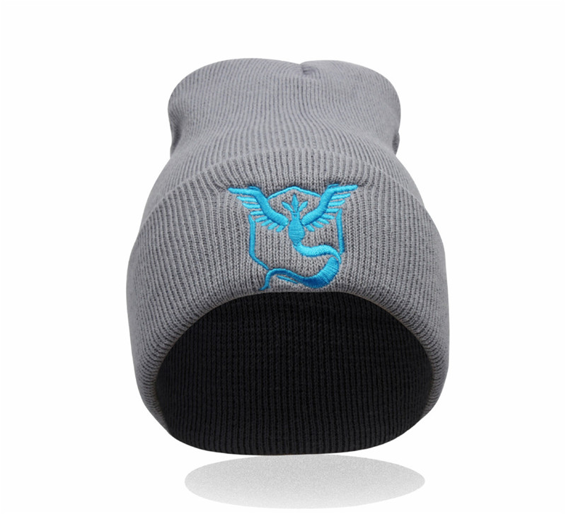 SXKN004 Winter Unisex Pokemon go Embroidery Hip Hop Adjustable Knitted   Beanies   Caps Hip Hop Knit Hat   Skullies   Bonnets