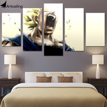 HD Printed 5 piece canvas art vegeta dragon ball z super saiyan painting pictures poster Free shipping/ny-4903