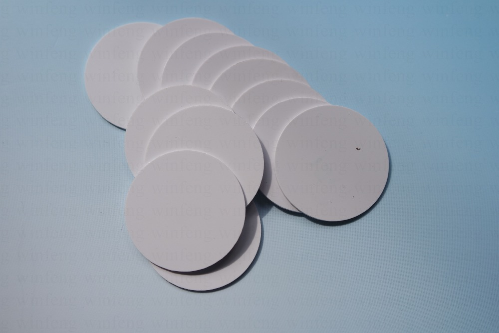 20pcs/lot 25mm Small round nfc ntag215 tag programmable 13.56MHz rfid dis coin tag rfid proximity tag token