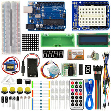KEYES 1602 LCD 830 Breadboard LED Relay RTC Electronic Kit for Arduino Uno R3 Starter Kit Upgraded Version