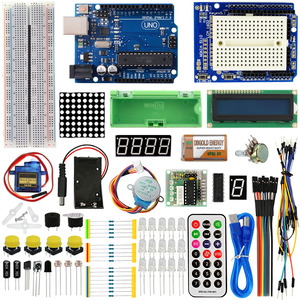 Image 1 - KEYES 1602 LCD 830 Breadboard LED Relay RTC Electronic Kit for Arduino Uno R3 Starter Kit Upgraded Version