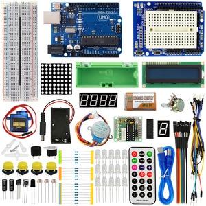 Image 1 - KEYES 1602 LCD 830 Placa De Ensaio R3 LEVOU Relé RTC Kit Eletrônico para Arduino Uno Starter Kit Versão Atualizada