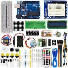 KEYES 1602 LCD 830 relé LED de placa de pruebas RTC Kit electrónico para Arduino Uno R3 Kit de Inicio versión mejorada
