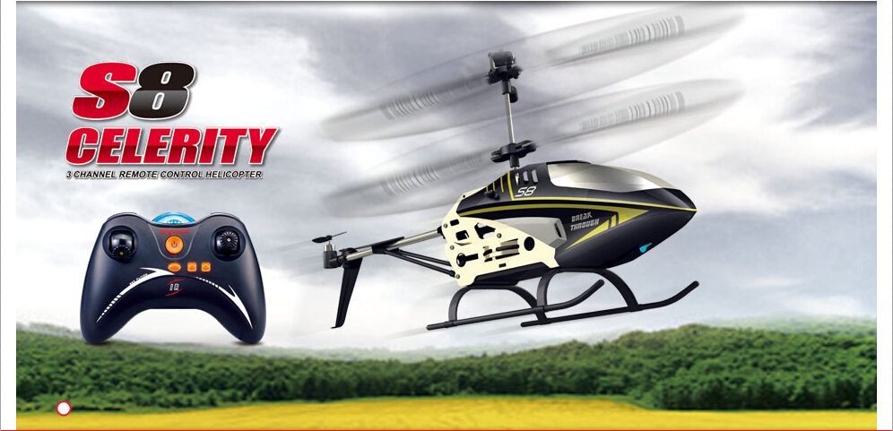SYMA S8 3.5-channel Mainan Model Helikopter Kontrol Giroskop Jarak Jauh
