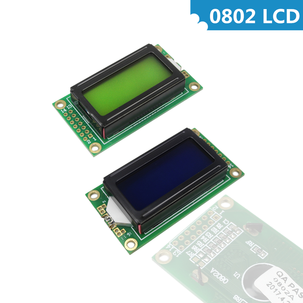 Optoelectronic Displays 5v Led Lcd Backlight For Arduino Diy Kit Smoothing Circulation And Stopping Pains Frugal 0802 Lcd Module 8 X 2 Character Display 3.3v