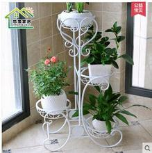 European flower shelf, wrought iron multilayer floor balcony and indoor living room money plant bracketplant flowerpot shelf  цены