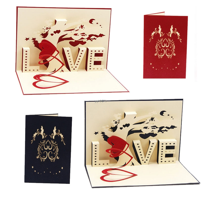 Hot Sale 2018 Happy Birthday Greeting Card 3d Pop Up Cards Love Tree