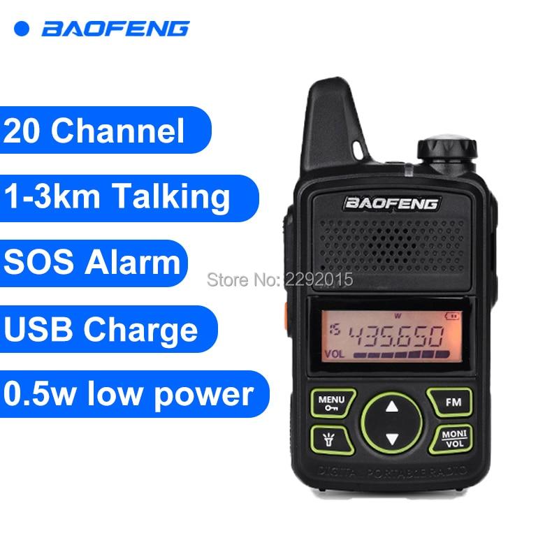 Baofeng T1 Walkie Talkie BF-T1 Zweiwegradio mini Tragbare Schinken FM CB Radio Handfunkgerät Für Hotel Restaurant Barbershop