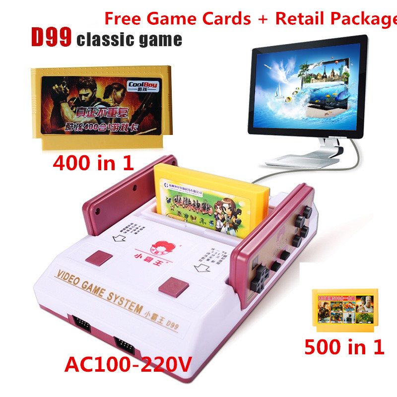 2017 New Subor D99 Video Game Console Classic Family TV video games consoles player with 400 IN1+ 500 IN1 games cards for choose недорго, оригинальная цена