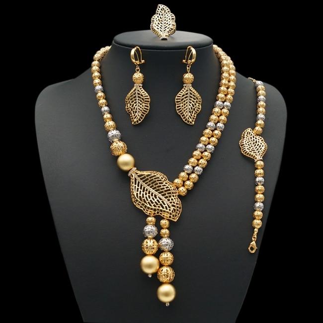 Yulaili China Factory Gold Rope Chain Stone Dubai Jewelry Sets