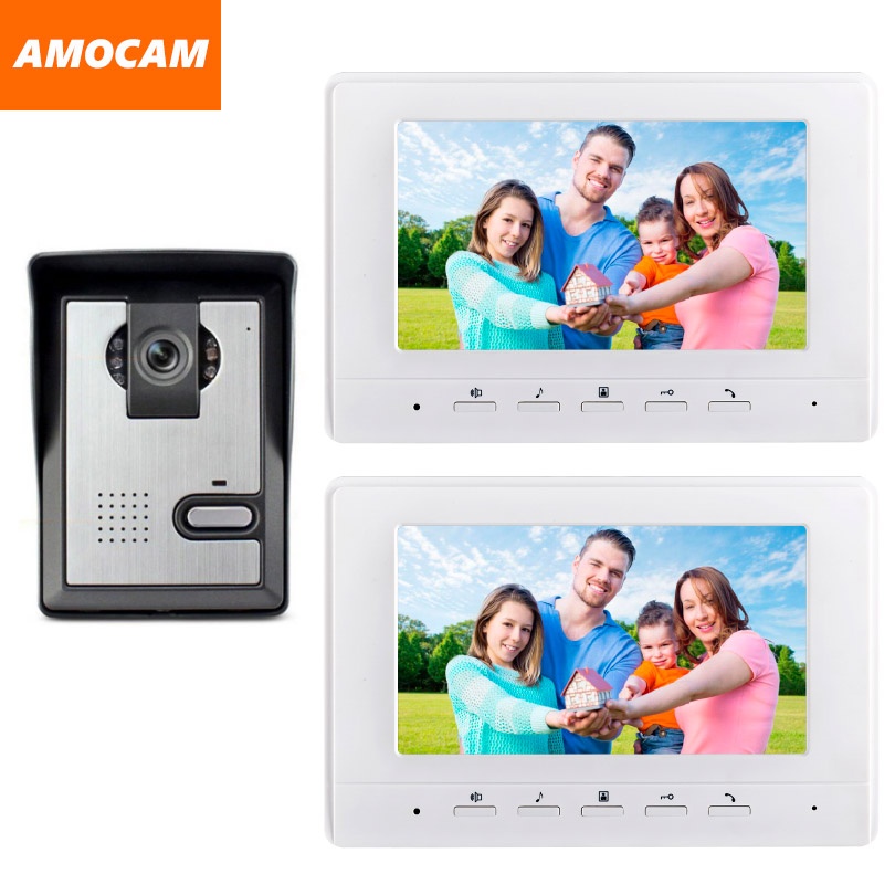 7 Inch Monitor Video Door Phone Intercom Doorbell Camera visual intercom doorbell Video Intercom doorphone Door bell System 1V2