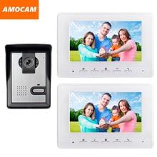 7 Inch Monitor Video Door Phone Intercom Doorbell System waterproof night vision Camera Video doorphone Interphone Kit 2-Monitor