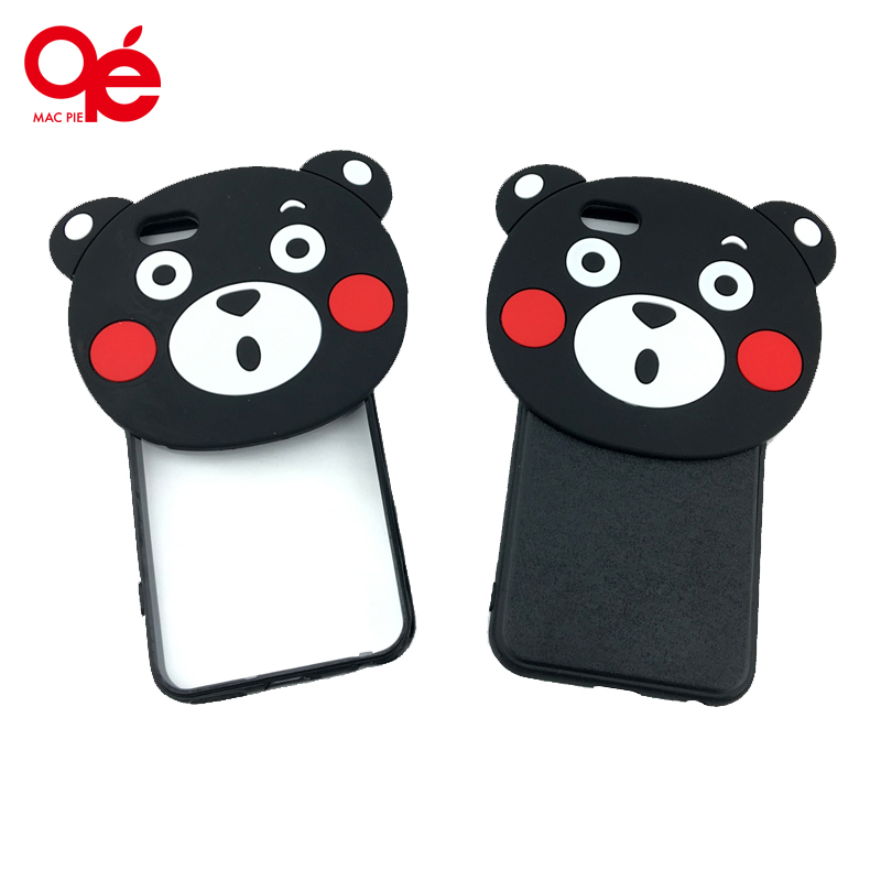 New Cute 3D Cartoon Funda Black Bear Soft Silicon Phone Case Cover Coque Carcasa Para for iPhone 5s SE 6 6s Plus