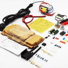 DIY LM317 Регулируемый Напряжение 220V до 1,25 V-12 V понижающий Питание обучения доска комплект с Чехол PCB электронный модуль наборы