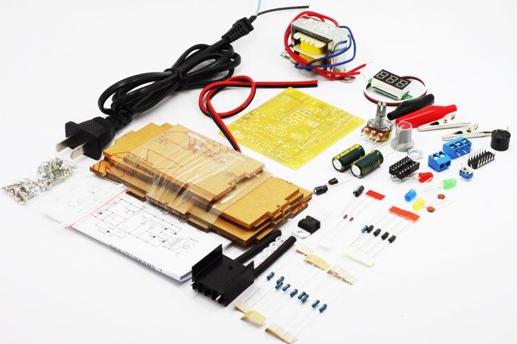 DIY LM317 регулируемый Напряжение 220 В до 1.25 В-12 В понижающий Питание доска обучения комплект с случае pcb электронный модуль комплекты