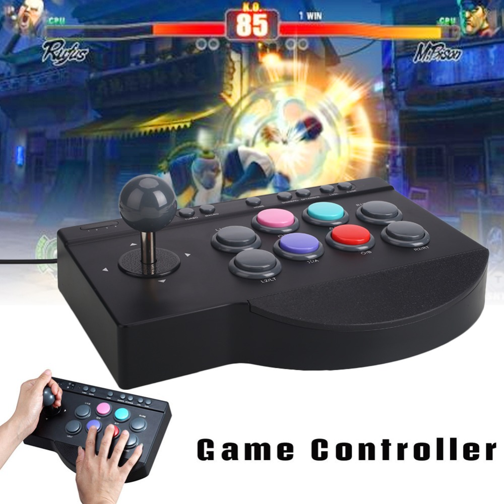 Arcade Joystick 2018 New Black ABS Gamepad Wired Game Console Premium Game Rocker Video For Xbox One For PS3 For PS4 PC pxn 0082 game joystick gaming controllers 8 buttons game rocker lever joystick gampad handle controller for ps4 ps3 xbox one