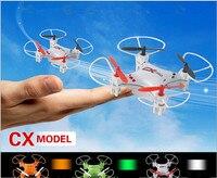 2015 Yeni en iyi hediye Fly Drones CX023 5CH RC Helikopter 2.4 GHz radyo Kontrol RC Mini UFO Quadcopter LED Işık ile/6-Axis Gyro RTF