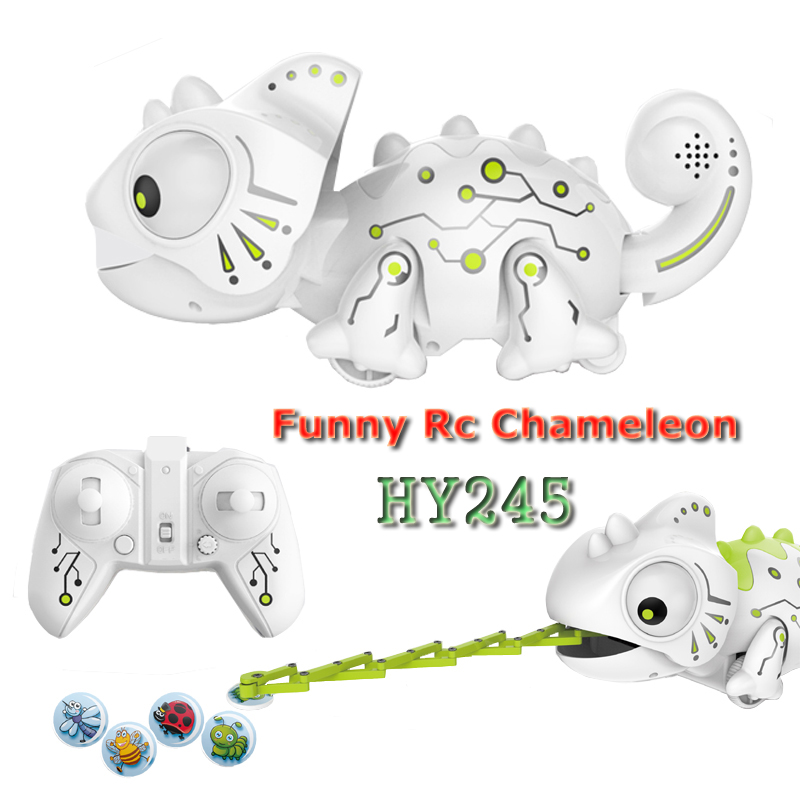 HY245 Dinosaurio Robo Dinosaur <font><b>Toy</b></font> Remote Control Chameleon 2.4GHz RC Pet Intelligent Animal Robot Kit Kids <font><b>Toys</b></font> For Children image