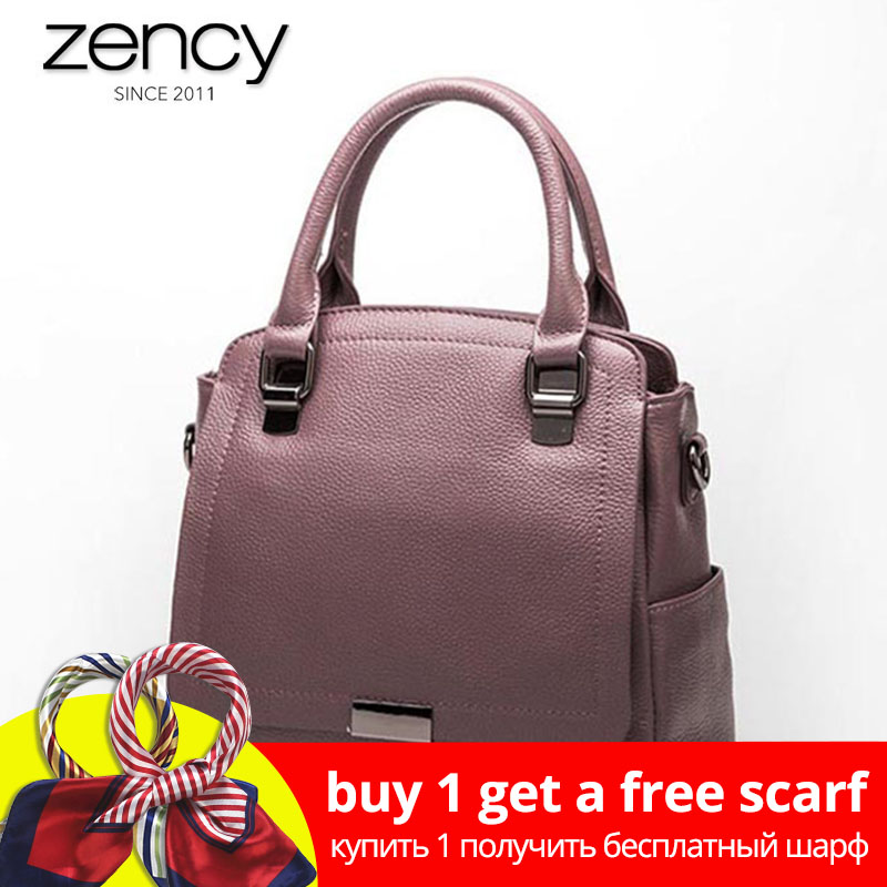 Zency 100% En Cuir Véritable sac à main des femmes sac de mode Dames Bourse D'épaule Satchel qualité supérieure Messenger Bandoulière Sacs