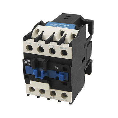 CJX2-2510 AC Contactor 25A 3 Phase 3-Pole NO 220V 50/60H Coil cjx2 2510 ac contactor 25a 3 phase 3 pole no 220v 50 60h coil
