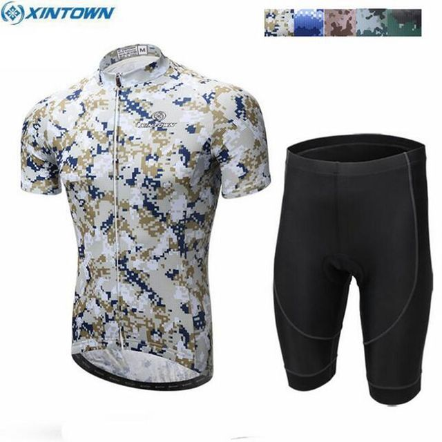 2017 XINTOWN Team Summer Men Outfits Ropa Ciclismo Outdoor Cycling Jersey  Gel Padded Bib Shorts Set Bike Bicycle Sportswear Suit 418fca403