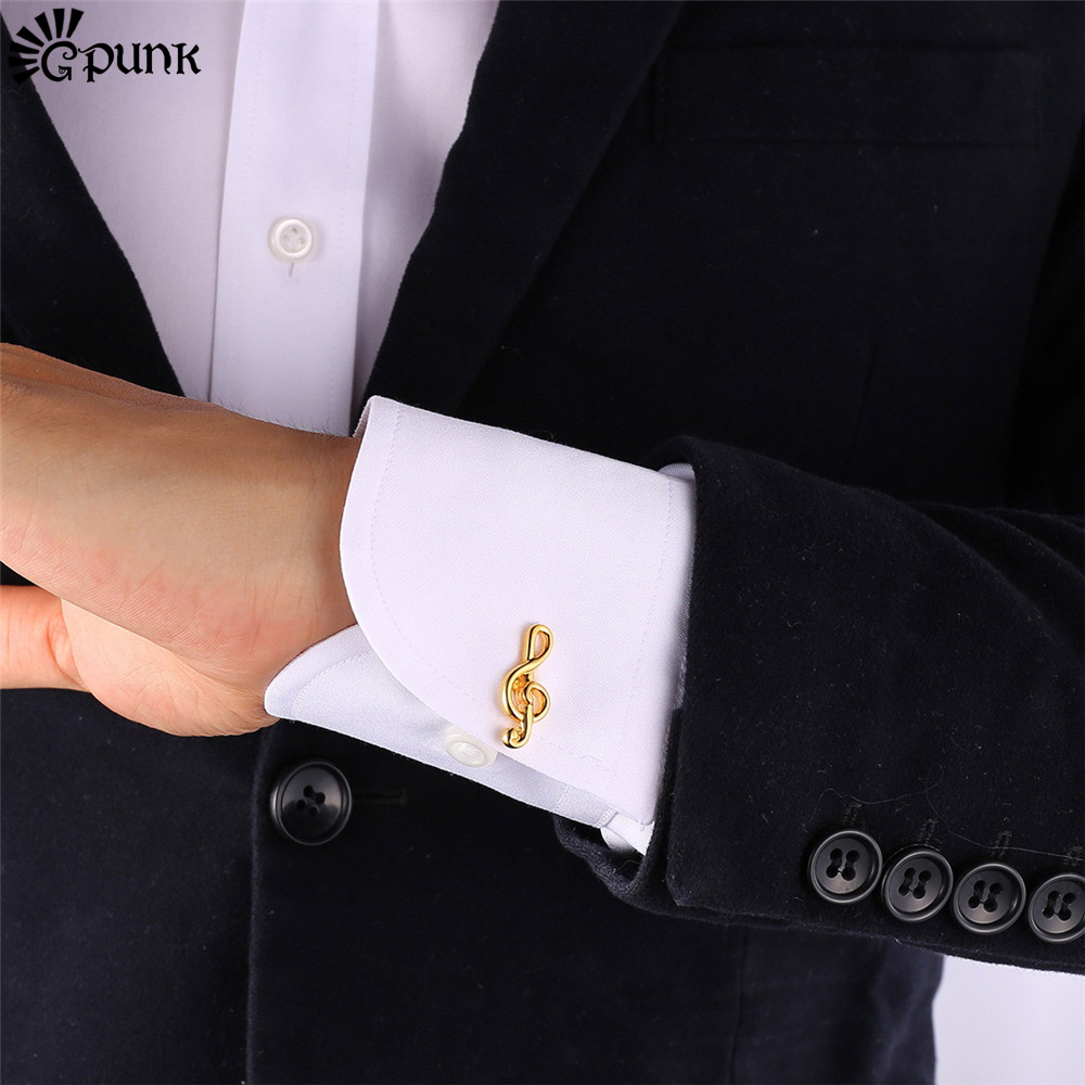Buy music note cufflinks for men musical for Cuff shirts for men
