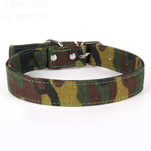 1 Piece Camouflage Canvas Material Pet Dog Collar Woods Training For Medium Large Dogs Seat Belt Accessories Lead
