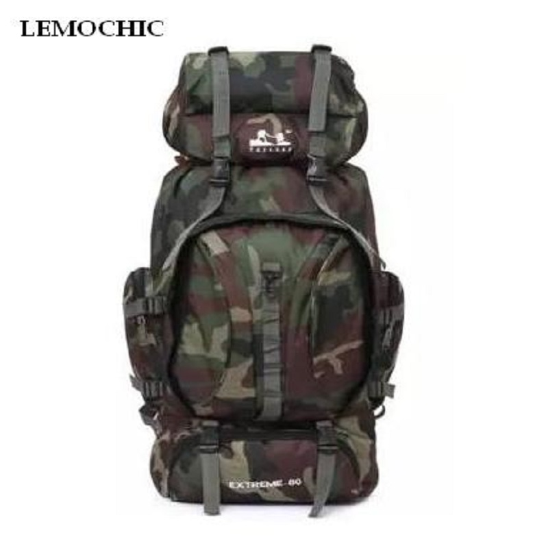 ФОТО High quality Tactical Large Backpack Rucksacks For Explorer Camping Camouflage camping hiking outdoor 80l Outdoor Sports Bag