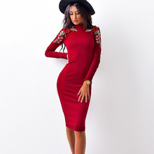 Women's Casual O-neck Long Sleeved Tight Dress