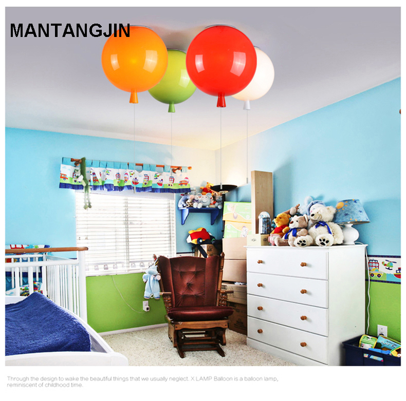 Ceiling Lights & Fans Romantic Colorful Balloon Ceiling Lights Baby Childrens Room Cozy Lamp Lustre Luminarias Minimalist Plafonnier Moderne Lamparas De Techo Lights & Lighting