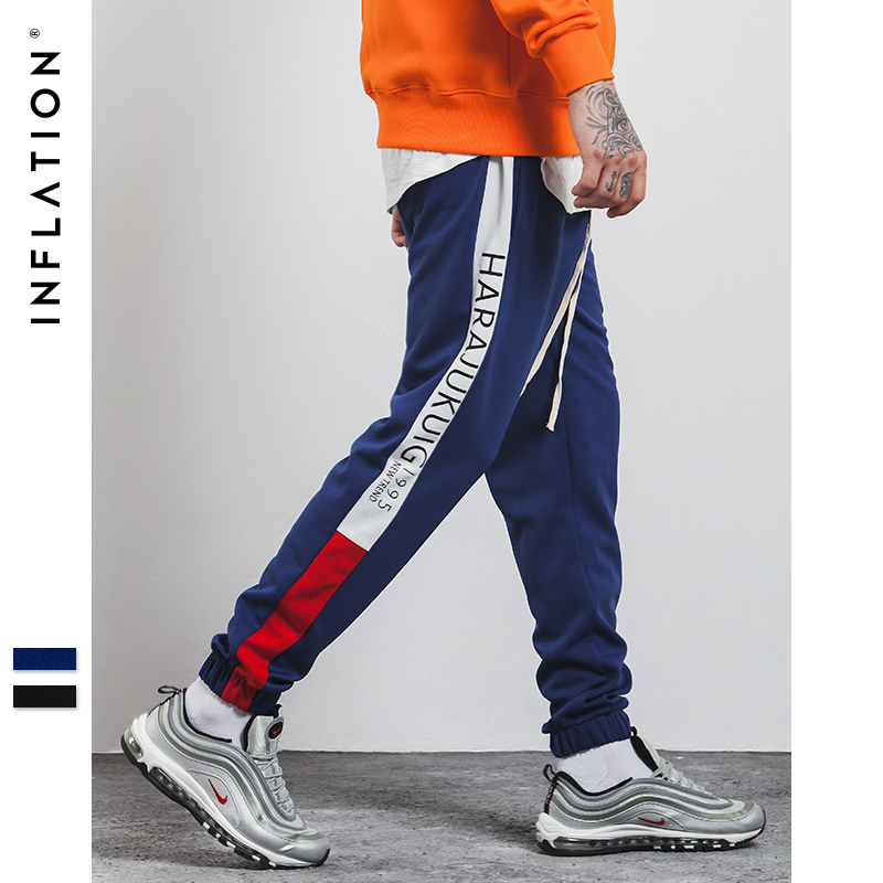 INFLATION 2018 Brand Clothing Causal  Sweatpants Men Streetwear Track Trouser Cotton Fashion Hip Hop Sweatpants 360W17