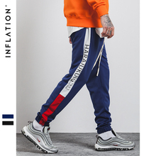 INFLATION 2018 Clothing Causal Men Streetwear Track Trouser Cotton Hip Hop Sweatpants