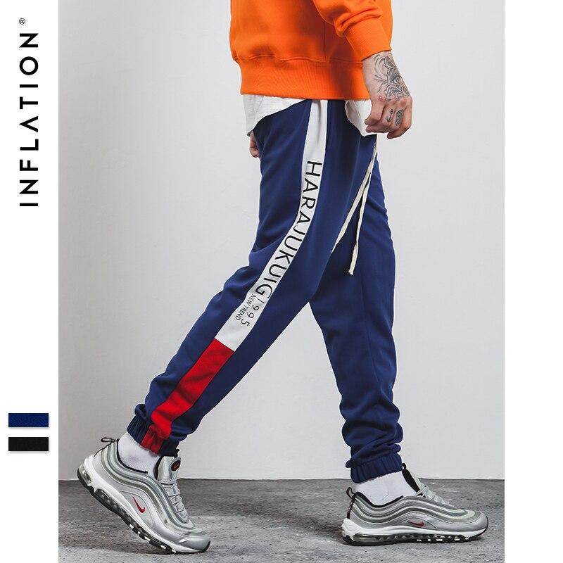 L'INFLATION 2018 Marque Vêtements de Causalité pantalons de Survêtement Hommes Streetwear Piste Pantalon Coton De Mode Hip Hop pantalons de Survêtement 360W17