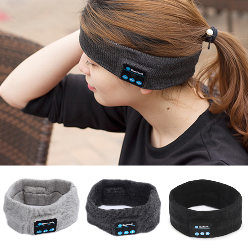 wireless bluetooth sports headset stereo headphones sleep headband with microphone mic fone de. Black Bedroom Furniture Sets. Home Design Ideas