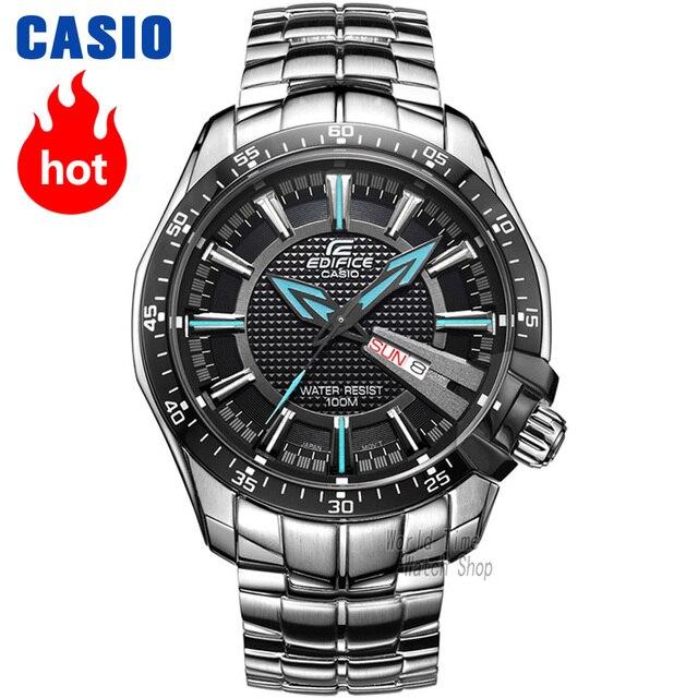 14201bc31d1 Relógio Casio Edifice Homens Quartzo Relógio Esportivo Digital Escala Cinta  de Aço À Prova D