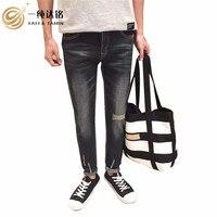 Jeans casuali del Cotone Allentati Pantaloni Jeans uomo Pantaloni Tasche Solid 15-35 anni Piena Lunghezza Del Denim Uomo Jeans Per gli uomini pantaloni