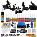 Solong Tattoo 2 Pro Machine Guns Tattoo Kit Power Supply Needle Grips 14 Ink Color Makeup Set  TK203-19