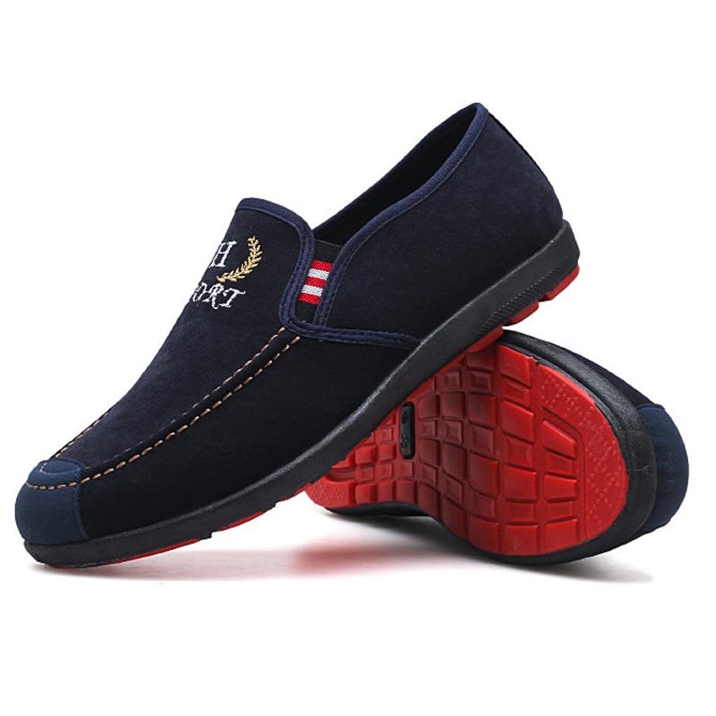 Chaussures Printemps 2018 Mocassins Mexemina Respirant Noir Toile bleu Mâle on Hommes Slip Casual Pour Mode tf4xFwqBx