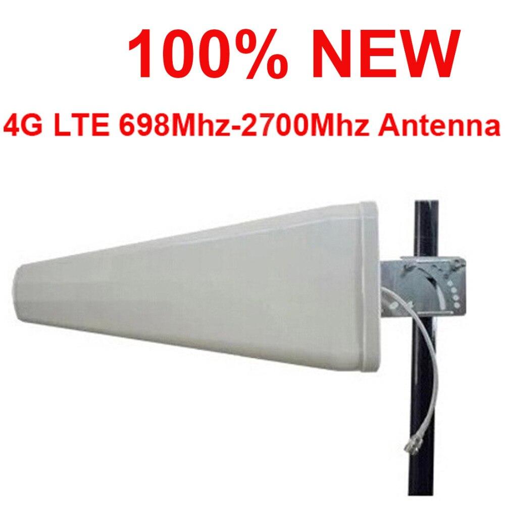 100% nouveau 11dbi gain 4G antenne 698-2700 Mhz LTE GSM extérieur LDP panneau logarithme antenne directionnelle FDD TDD antenne de téléphone